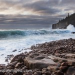 March storm brings in big waves to the cove north of Otter Cliffs, Acadia National Park.