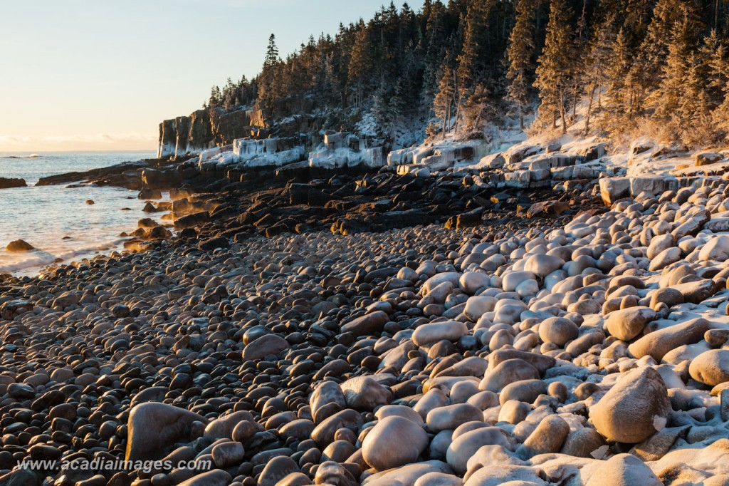 Winter at Otter Cliffs, Acadia National Park, Maine