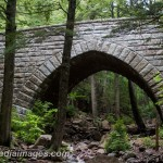 Haddlock Brook Bridge.  Stone bridge part of the carriage roads of Acadia National Park