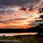 Sun Setting over Eagle Lake, Acadia National Park, Maine
