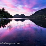 The Bubbles at sunset.  Jordan Pond, Acadia National Park.