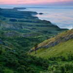 Hilltop view over the Mahia Peninsula, Hawkes Bay, New Zealand