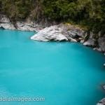 Glacier fed River. West Coast river near Hokitika, New Zealand