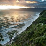 The start of the South Coast Track, end of civilization, New Zealand