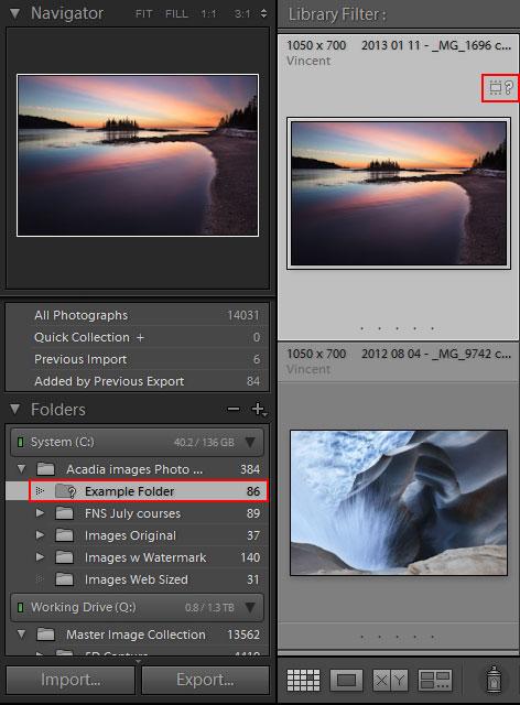 how to change lightroom import folder