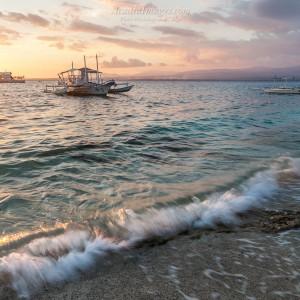 Philippines banka boat at apo island